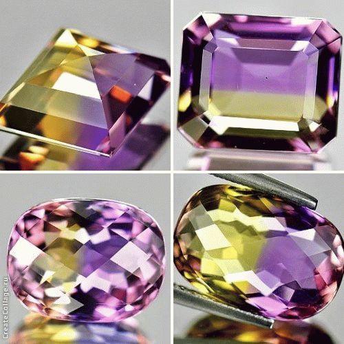 двухцветный аметрин