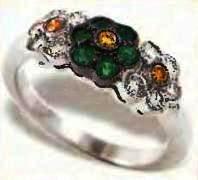 перстень с зелеными и желтыми бериллами, цена 800$
