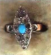 старинное кольцо бирюза серебро