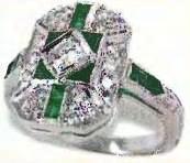 современная копия старинного кольца с изумрудами