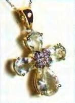 крест с аквамаринами