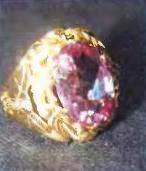 старинное кольцо с розовым александритом