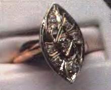 старинное кольцо с бриллиантами