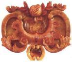 Орнаментальная вставка Большой рамы янтарной комнаты