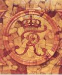 Вензель короля Фридриха 1 на цокольных панелях Янтарной комнаты