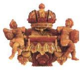 Корона Российской империи. Декоративное навершие Большой рамы. Южная стена янтарной комнаты