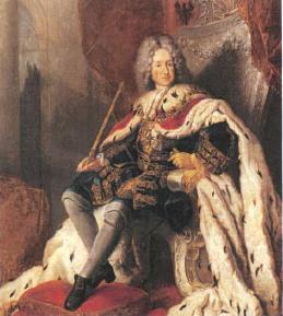 Портрет Фридриха I в коронационном облачении. 1710 Художник А.Пэн