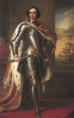Портрет императора Петра I. 1833 Художник Г. Бон. По оригиналу Г. Неллера