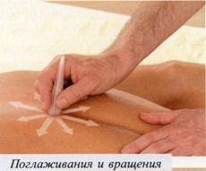 поглаживание массаж камнями