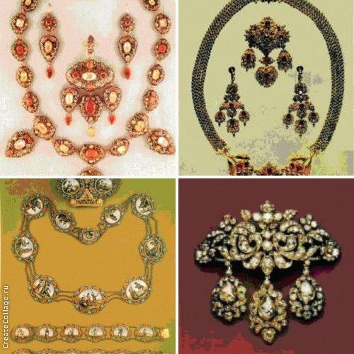 Коллекция бриллиантовых брошей и украшений для волос позднего георгианского периода