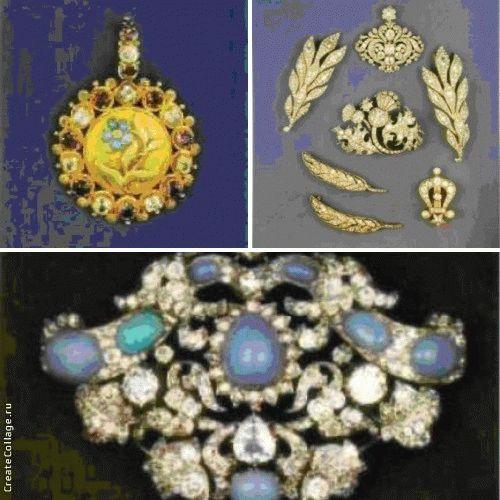Полупарюра из золота с рубинами и бриллиантами