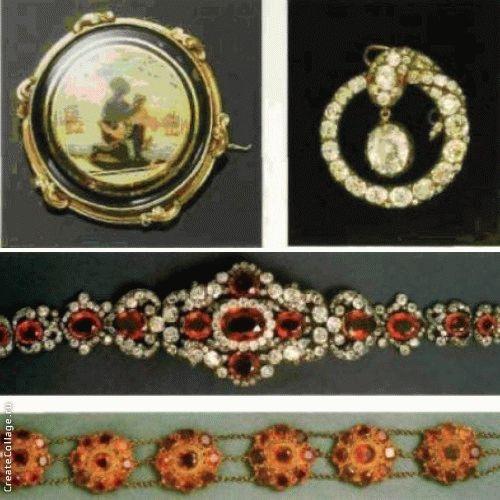 Парюры с римскими мозаиками оставались в моде