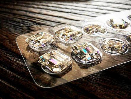 муассанит и бриллиант